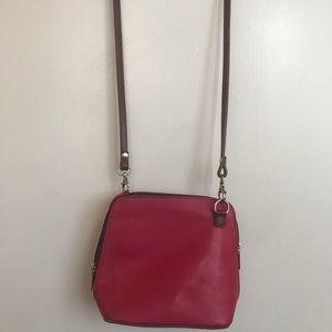 💯 Italian Pink Leather Crossbody